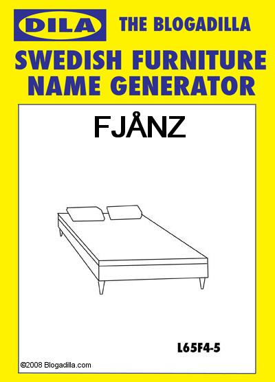 Swedish Furniture Name Generator