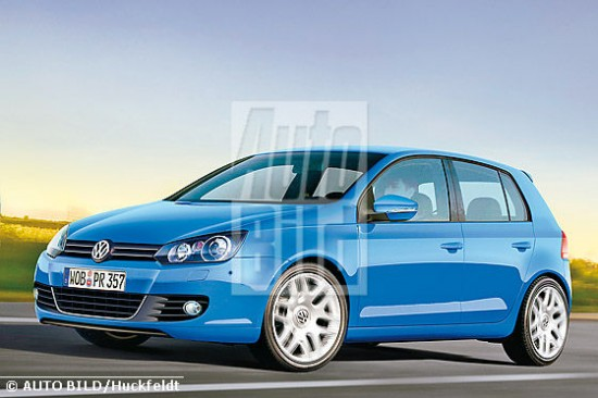 Golf MkVI render from Autobild